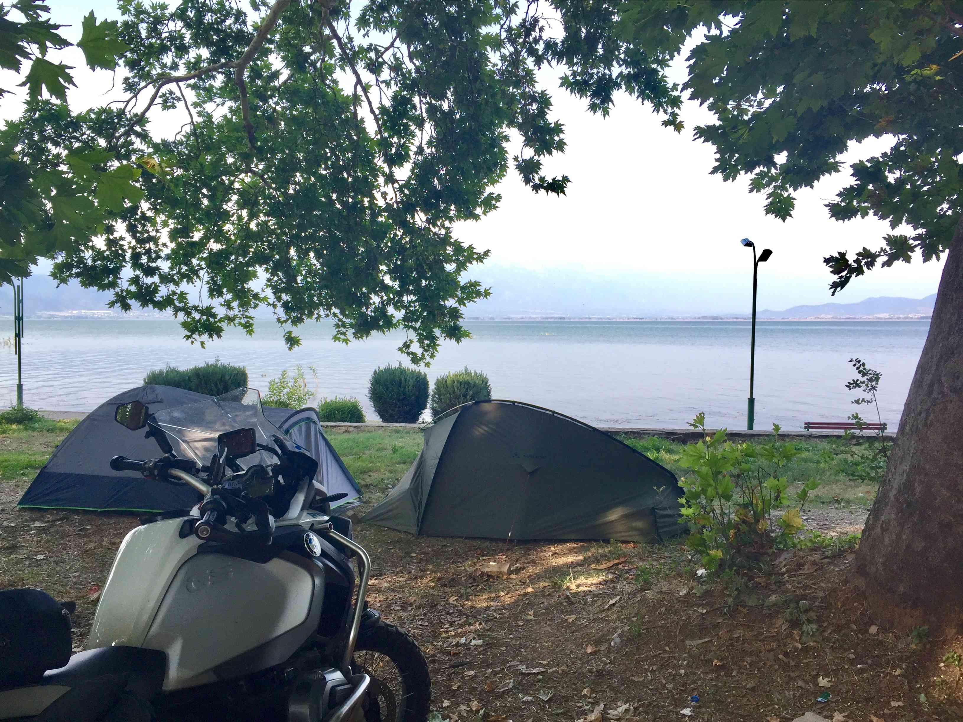 Camping on Dojran lake
