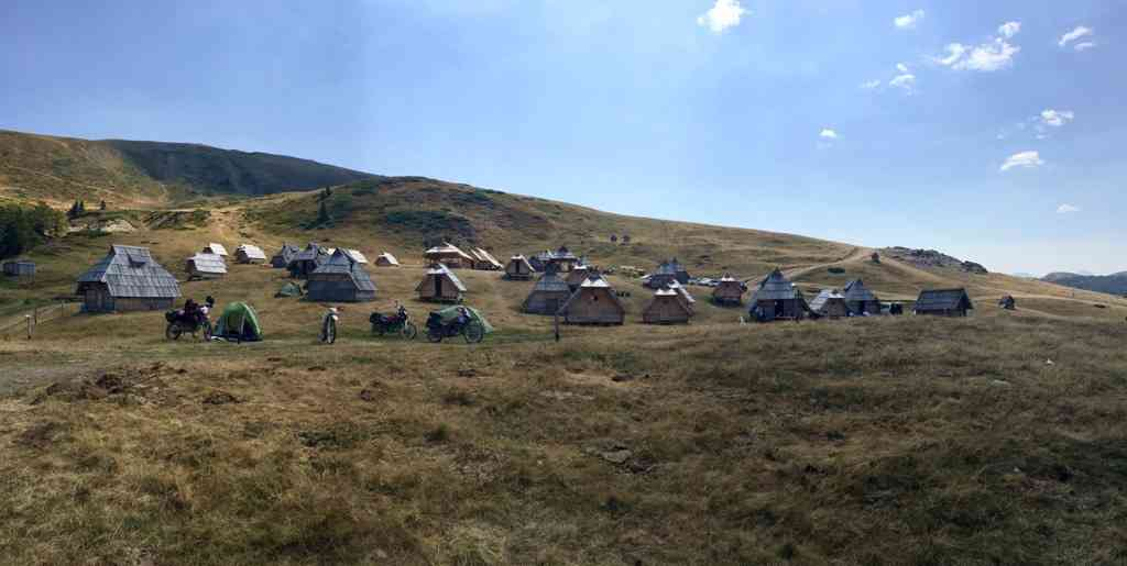 Campsite in the Montenegrin Mountains near Kolasin